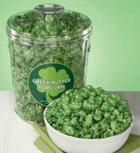 St. Patrick's Day Green Popcorn
