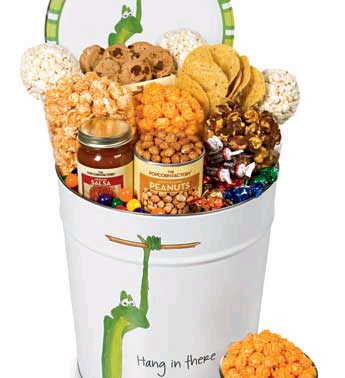 College Hang In There Popcorn Snack Tin