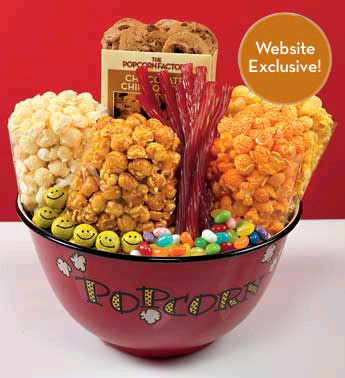 College Popcorn Gift Basket